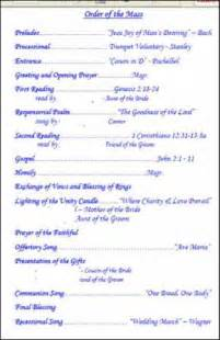 Templates For Church Programs by 7 Best Images Of Church Wedding Program Templates Sle