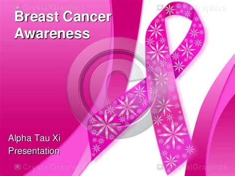 Breast Cancer Awareness Powerpoint Presentation On Breast Cancer Awareness