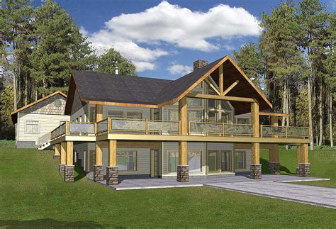 wrap around house plans mountain home with wrap around deck 35427gh architectural designs house plans