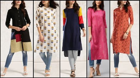 college wear hairstyles everyday stylish kurta kurti with jeans trendy