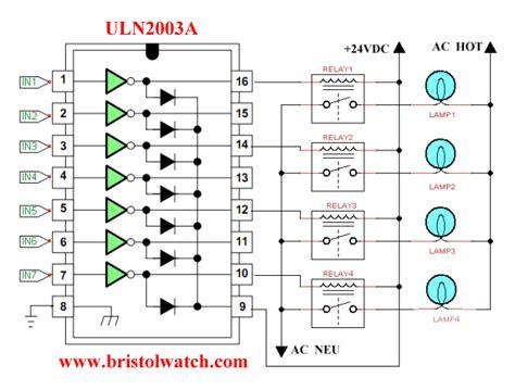darlington transistor relay driver uln2003a darlington transistor array circuit exles