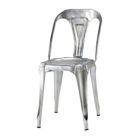 chaise indus en acier galvanis 233 multipl s maisons du monde
