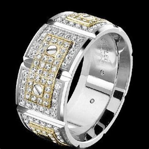 mens high  wedding rings mens fashion jewelry