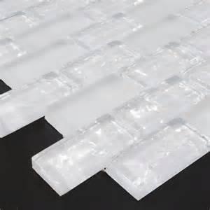 Cracked Glass Tile Backsplash - white subway tiles crackle crystal backsplash kitchen wall tile crackle glass mosaic bathroom