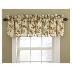 Waverly Valances And Curtains Shop Waverly Home Classics 15 In Cameo Cotton Rod Pocket