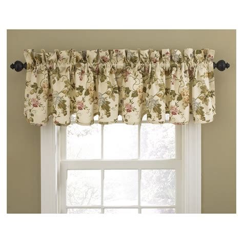 Shop waverly home classics 15 in cameo cotton rod pocket valance at lowes com