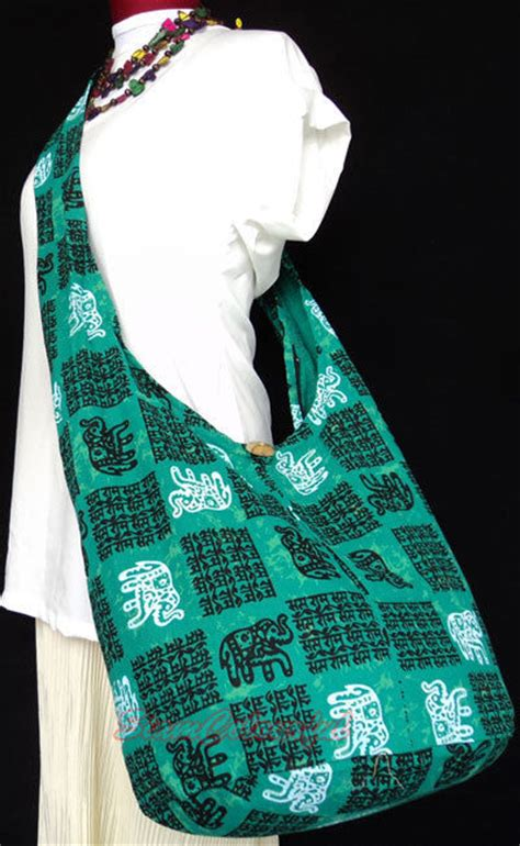 Sling Bag Crossbody Bag Banyak Motif green hippie boho sling cross thai pattern tote shoulder bag ebay