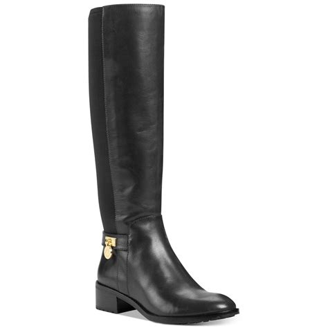michael kors boots for michael kors hamilton stretch boots in black lyst