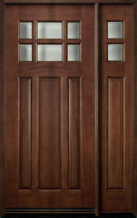 single front door front door custom single with 1 sidelite solid wood with mahogany finish classic