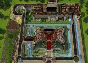 Big Mansion Floor Plans mod the sims zelda castle inspired by ocarina of time