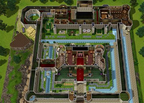 fantasy castle floor plans mod the sims zelda castle inspired by ocarina of time