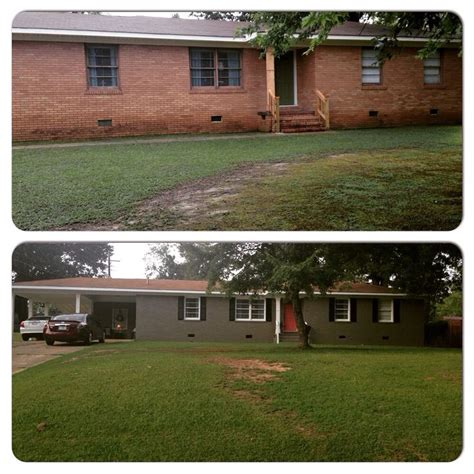 exterior brick paint before and after 17 best images about exterior house paint l on