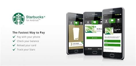 starbucks android app starbucks app now available on android smartphones