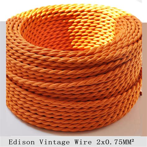2 0 75mm2 edison vintage electrical wire orange l cord