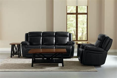 Bassett Club Room Sofa by Bassett Club Level Evo Graphite Leather Power Reclining Console Loveseat With Power