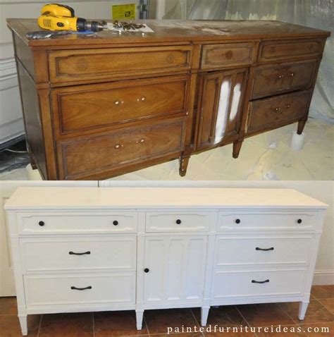 painting bedroom furniture white drexel dresser makeover white pictures of dresser makeovers and painting tips