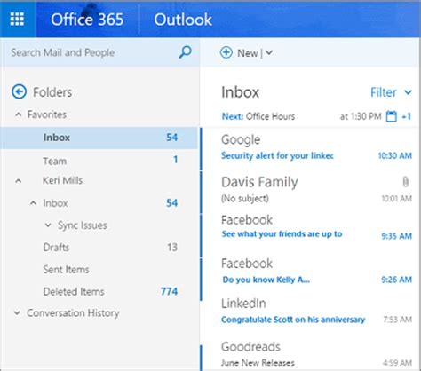 Office 365 Mail Focused Outlook Focused Inbox Frenship Isd