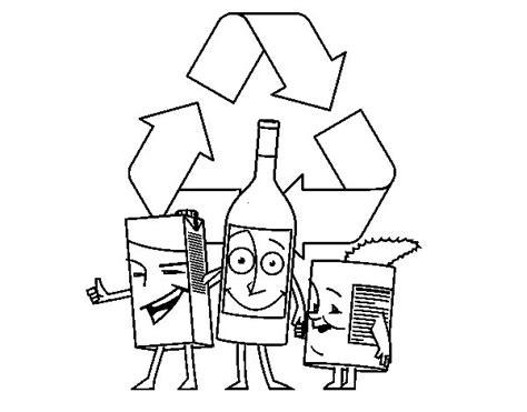 dibujos de reciclaje para colorear az dibujos para colorear dibujo de envases para reciclar para colorear dibujos net