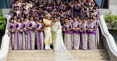 World's biggest wedding in Sri Lanka has 126 bridesmaids