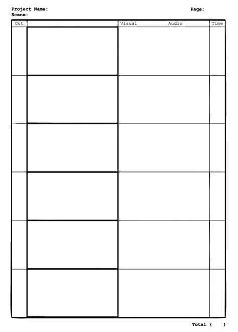 pin blank storyboard template on pinterest
