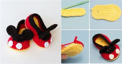 patron para hacer zapatos disfraz de mickey mouse crochet