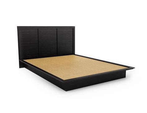 Low Profile King Bed Frame Low Profile King Bed Frame Made From Wood Painted With Black Color Plus Headboard Ideas