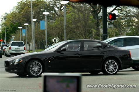 Maserati Miami by Maserati Quattroporte Spotted In Miami Florida On 12 26 2012