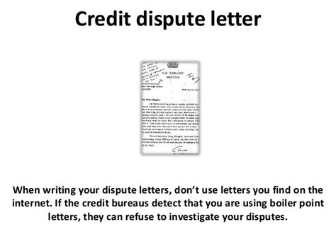 Credit Repair Letter Sles Credit Dispute Letter And Credit Repair Tips