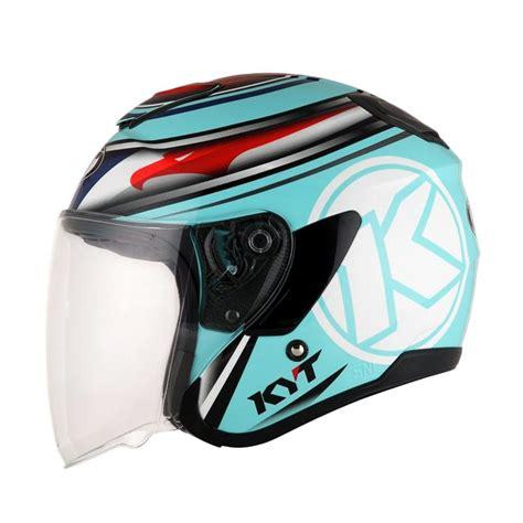 Helm Kyt Kyoto jual kyt kyoto 03 helm half aqua blue harga kualitas terjamin blibli