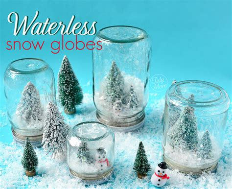 crafts snow globes how to make a waterless snow globes