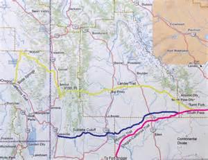 oregon california trail map lander trail thefurtrapper