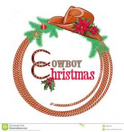 american cowboy christmas background isolated on w stock