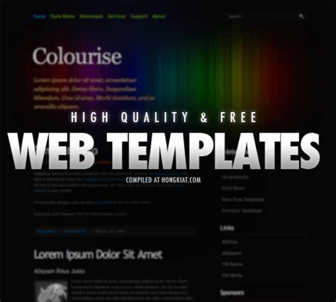 38 free xhtml css website templates hongkiat