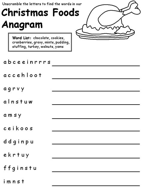 film quiz anagrams christmas food anagram easy puzzle christmas pinterest