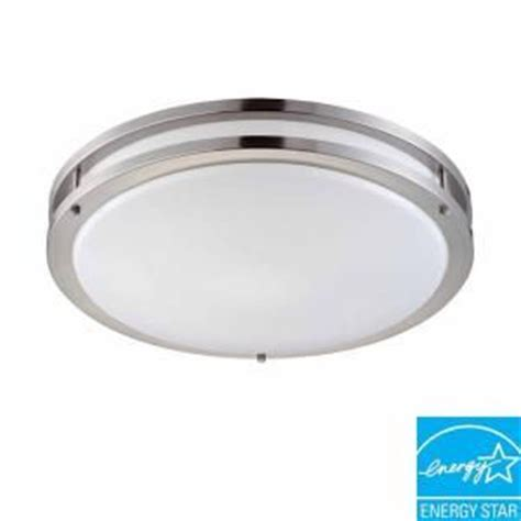laundry room ceiling lights hton bay 2 light brushed nickel fluorescent ceiling