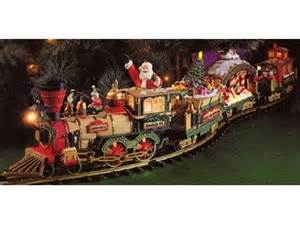 santa express animated electric train set ornament kids