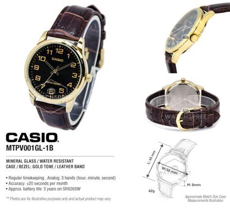 Casio Analog Mens Mtp V001gl 1b Mtpv001gl Original Bergaransi Casio S Standard Analog Mtpv001gl 1b Mtp V001gl