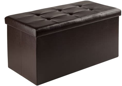 Large Upholstered Ottoman by Ashford Espresso Upholstered Large Storage Ottoman From