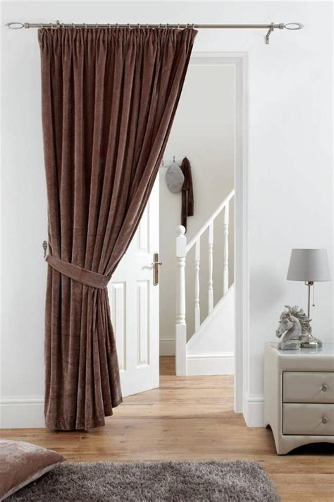 lined door panel curtains fully lined velvet door curtain pencil pleat deep pile