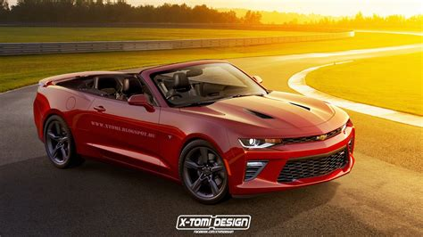 Chevrolet Convertible New Chevrolet Camaro Convertible Rendered Gtspirit