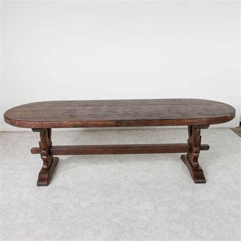 Monastery Dining Table Grand Antique Handmade Solid Oak Oval Monastery