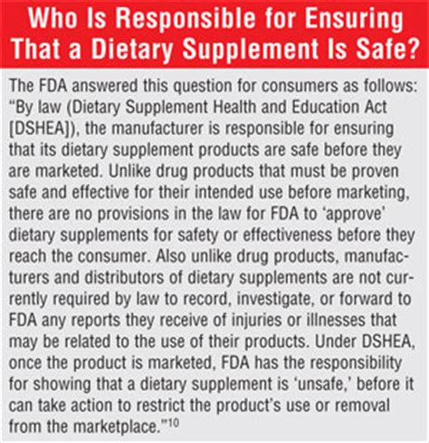 supplement regulation in the us the fda vitamins and the dietary supplement industry