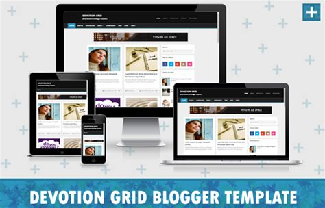 template devotion grid responsive blogger template para