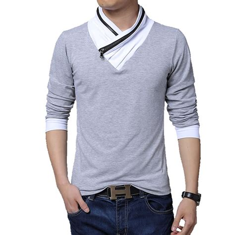 Kasual Tshirt 2014 new fashion brand casual men s t shirt turn