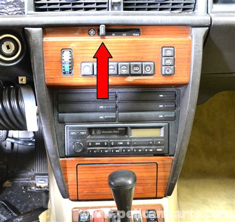 how to remove a heater control on a 1985 lincoln continental mercedes benz 190e center console removal w201 1987 1993 pelican parts diy maintenance article