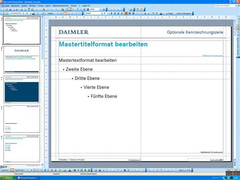 Vorlage Präsentation Praktikum Daimler Powerpoint Templates 2007 2008 Messingerdesign