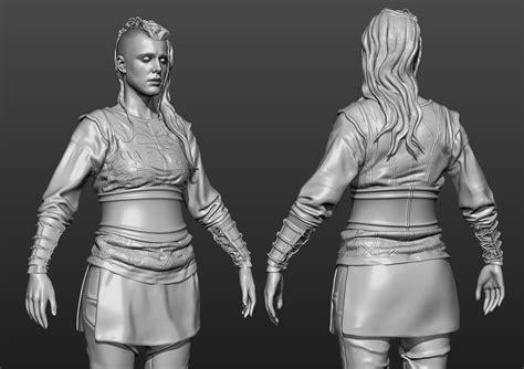 zbrush tutorial body making of porunn vikings 3d fan art by genc buxheli
