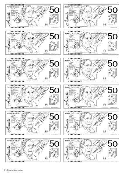 printable fake money australia australian money posters k 3 teacher resources