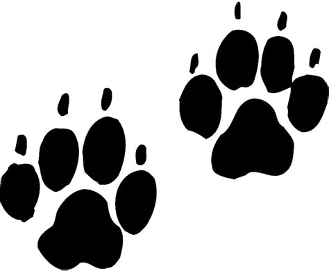 tiger paw template tiger paw stencil clipart best