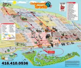map of canada with toronto city sightseeing toronto toronto decker city tour map